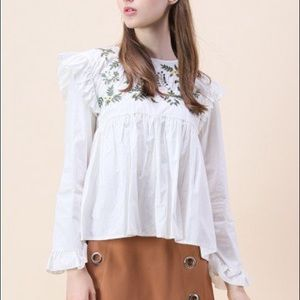Chicwish embroidered blouse